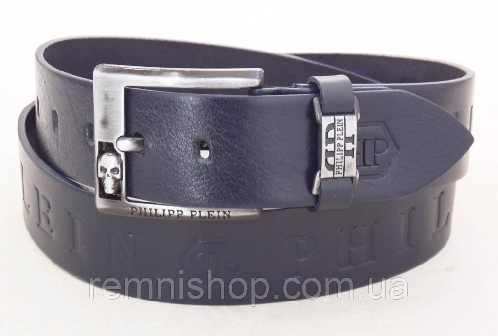 3bb720c6125e Мужской кожаный ремень Philipp Plein темно-синий: продажа, цена в Днепре.  ремни и пояса ...