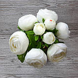 Букет белых лютиков 6 больших и 3 маленьких цена 185 грн., фото 7