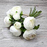 Букет белых лютиков 6 больших и 3 маленьких цена 185 грн., фото 3