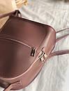 Рюкзак ROMASHKA из мягкой эко кожи с карманом на молнии темная пудра, фото 2