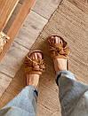 Шлепки на соломенной подошве с бахромой коричневые, фото 2