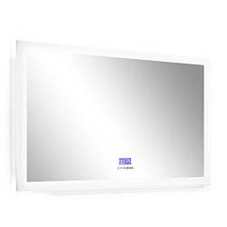 Зеркало 100*80см, с подсветкой, bluetooth, дата, время, температура, радио (мебель под умывальник VERITY LINE)