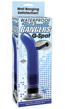 Стимулятор G-точки - Waterproof G-Spot Wallbanger, синий