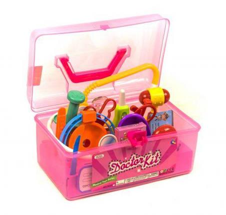 Докторский набор в чемодане (розовый), фото 2