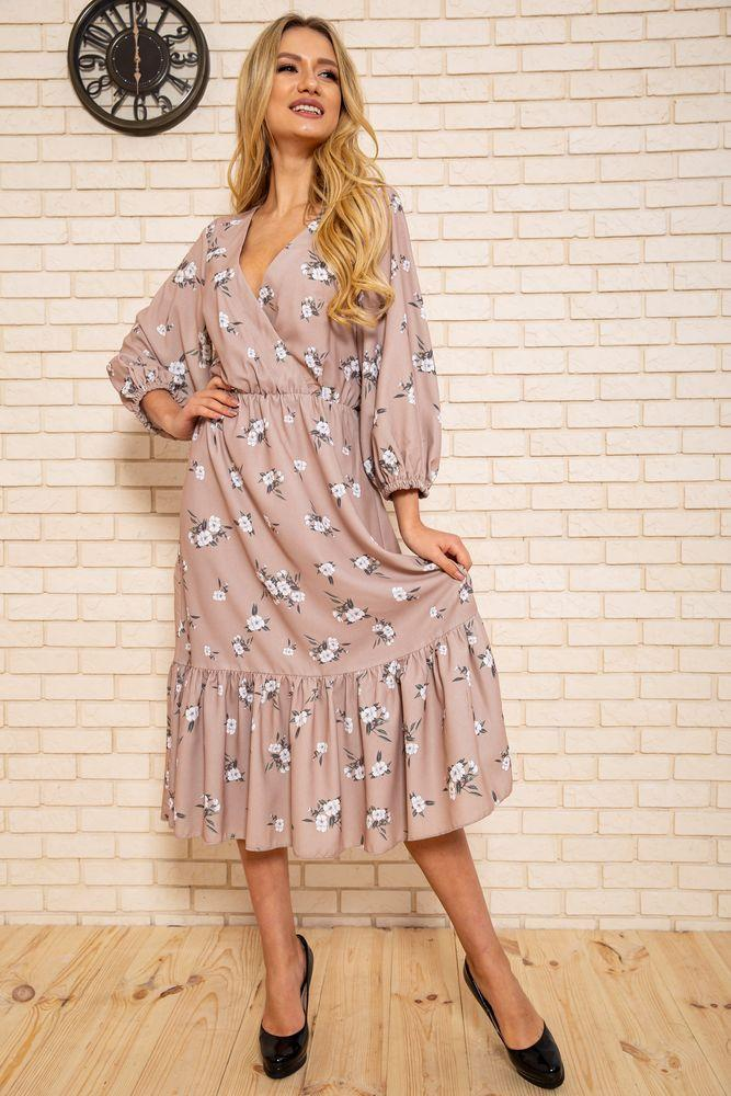Платье женское 115R394-3 цвет Бежевый