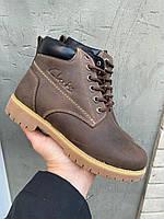 Подростковые ботинки кожаные зимние коричневые Obr 21117, фото 1
