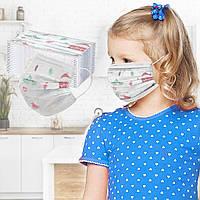 Медицинские маски 3-х слойные детские цветные (Цена за уп.50 штук!!!!!)