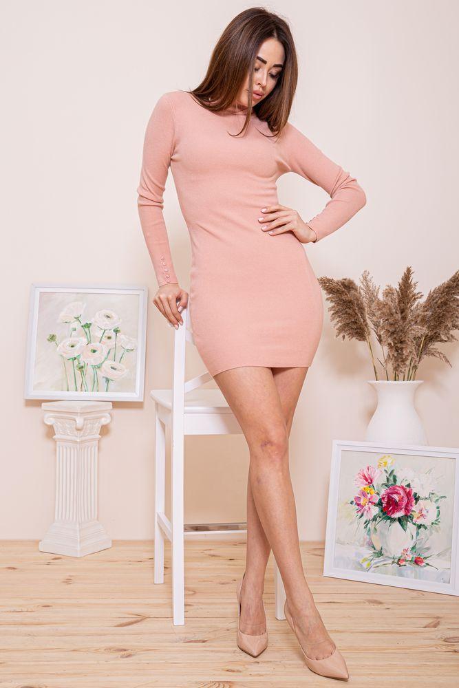 Платье-гольф 129R8681-1 цвет Персиковый