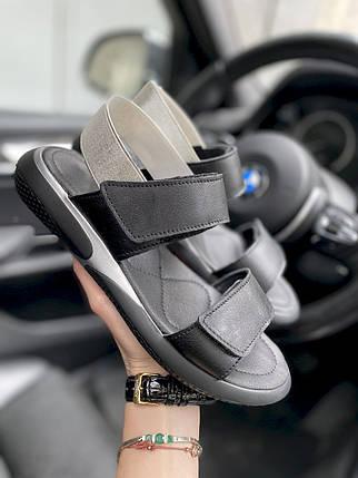 Женские босоножки кожаные летние черные Best Vak Air Л64-01 ч, фото 2