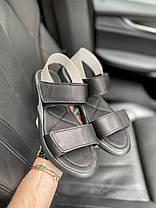 Женские босоножки кожаные летние черные Best Vak Air Л64-01 ч, фото 3