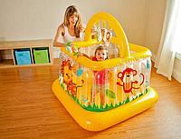Надувной детский игровой центр манеж - батут intex  48473