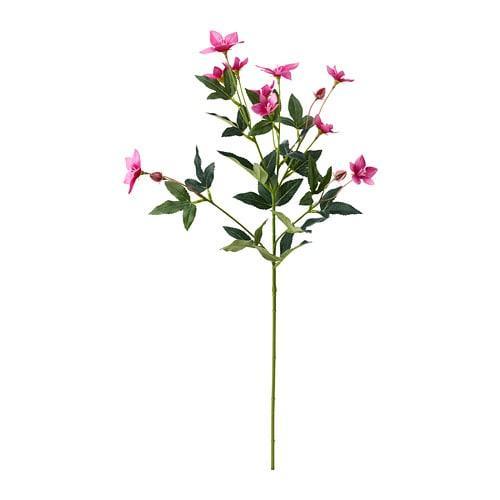 ИКЕА (IKEA) СМИККА, 504.097.32, Искусственный листок, Розовый пасекфлауэр, розовый, 60 см - ТОП ПРОДАЖ