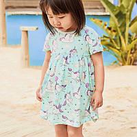 Платье для девочки белый единорог little maven 2 Little Maven