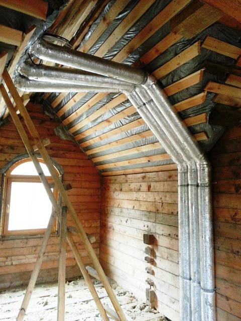 Вентиляционные каналы в деревянном доме для ЕСТЕСТВЕННОЙ и ПРИНУДИТЕЛЬНОЙ вентиляции.