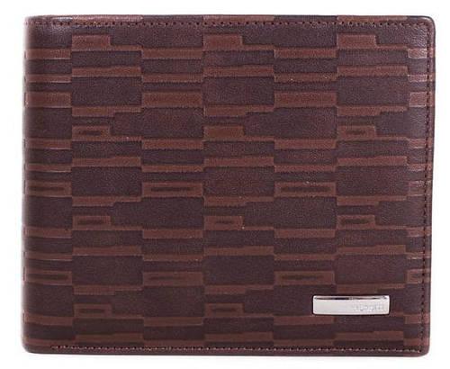 Оригинальное мужское портмоне из кожи PRENSITI (ПРЕНСИТИ) MISS17940 коричневый.