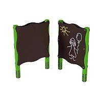 Детский игровой элемент Доска для рисования используется в играх на открытом воздухе двусторонняя 120х13х162см