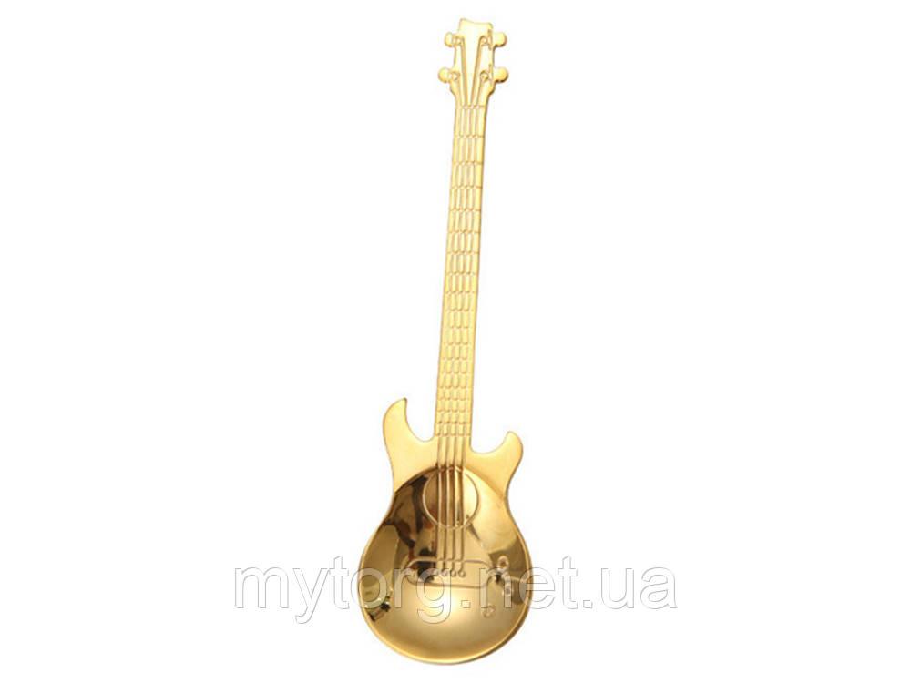 Ложка в форме гитары Guitar  Золотой