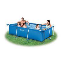 Бассейн каркасный rectangular frame pool intex 260x160x65 см (28271) (58980)