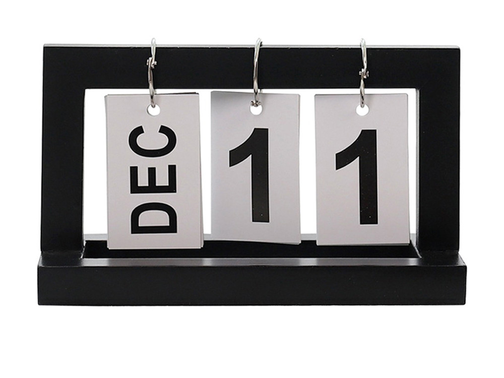 Календарь Shabby перекидной деревянный винтажный  Черный