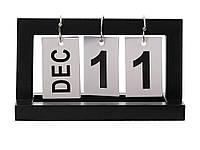 Календарь Shabby перекидной деревянный винтажный  Черный, фото 1