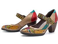 Туфли Socofy SKU853294 из натуральной кожи ручной работы женские 38р