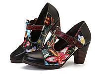 Туфли Socofy SKUD07147 из натуральной кожи ручной работы женские 39 р