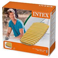 Одноместный надувной матрас Интекс для кемпинга и туризма