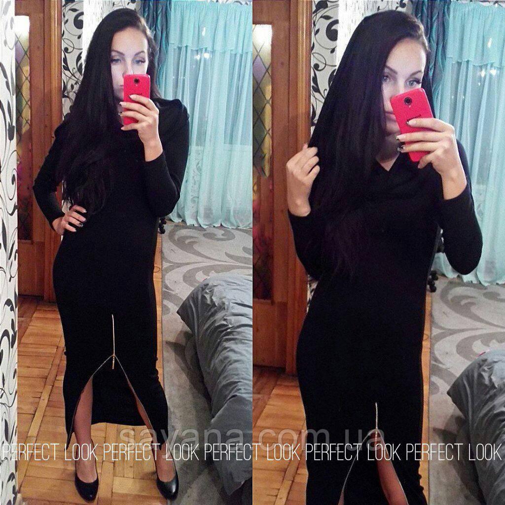 Женское длинное платье с капюшоном