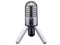 Микрофон Samson USB конденсаторный с аудио выходом для наушников Серебристый