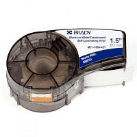 Лента для принтера этикеток Brady Self-laminating Vinyl, 4.0 - 8.1 мм., Black on White (M21-1500-427)