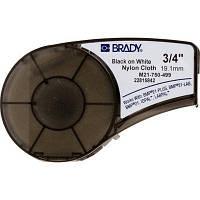 Лента для принтера этикеток Brady M21-750-499, nylon, 19.05mm/4.87m, Black on White (M21-750-499)