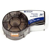 Лента для принтера этикеток Brady M21-500-595-BL, vinyl, 12.7mm/6.4m. White on Blue (M21-500-595-BL)