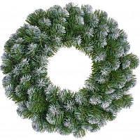 Новогодний декор для интерьера декоративная фигура Black Box Trees Венок Creston Frosted шишки и ягоды 35 см
