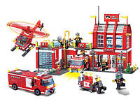 Конструктор пожарная станция серии пожарная служба brick (911)