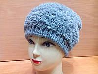 MICHELLE ТМ Камея, женская шапка, полушерстяная, цвет серый