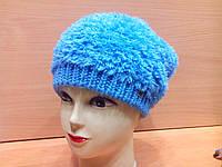 MICHELLE ТМ Камея, женская шапка, полушерстяная, цвет голубой