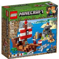 Конструктор Лего игра MINECRAFT Приключения на пиратском корабле 386 деталей (21152) LEGO