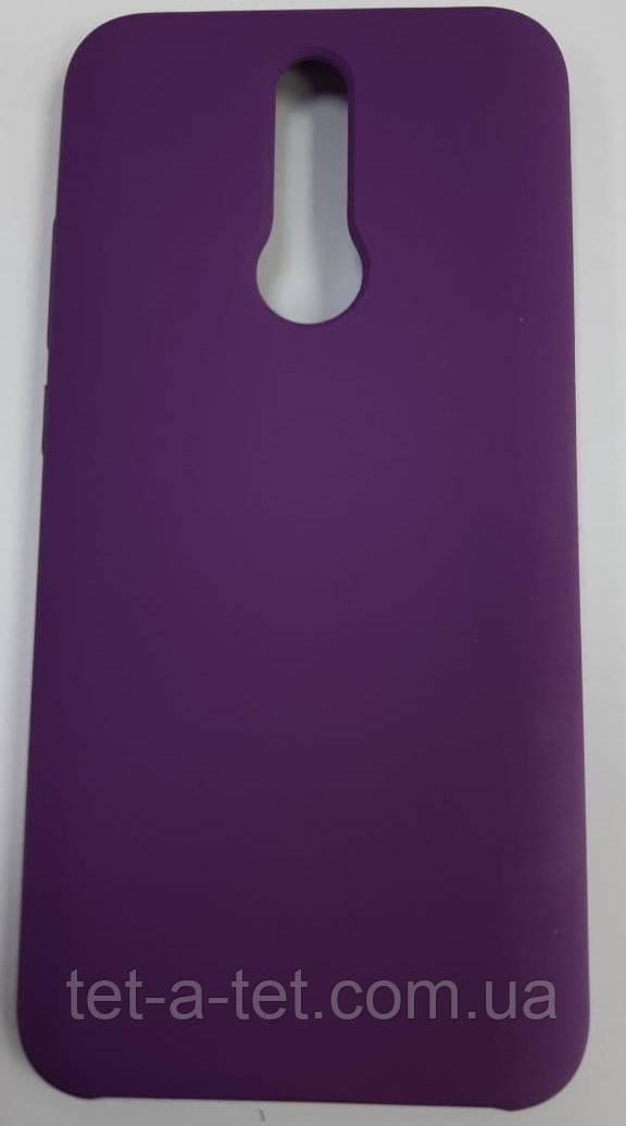 Силиконовый чехол-накладка Color Silk для Xiaomi Redmi 8 Purple