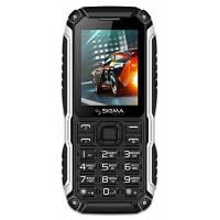 Кнопочный мобильный телефон дешовый Сигма Sigma X-treme PT68 (4400mAh) Black (4827798855515)
