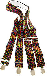 Подтяжки мужские KWM, Германия 110 на 3,6 см разноцветные 220004-1