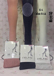 Колготы для девочки капроновые, однотонные, с люрексом, 40 den,  Belino (размер 13-14 лет.)