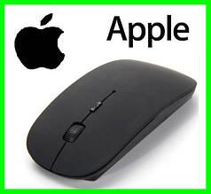 Бездротовий USB Мишка Дизайн APPLE Тонка Для Комп'ютерів і Ноутбуків Чорна