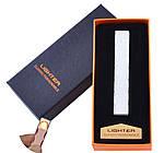 Электрическая USB Зажигалка Слайдер - Спираль в Подарочной Упаковке, фото 3