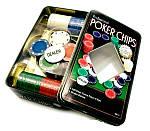Набір Для Покеру на 100 фішок в Металевому Боксі, фото 3