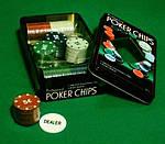 Набір Для Покеру на 100 фішок в Металевому Боксі, фото 4