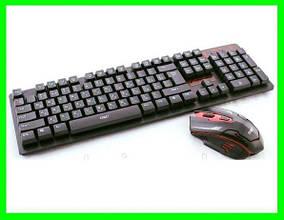 Бездротова Клавіатура і Миша комплект - 6500 (Відео Огляд)
