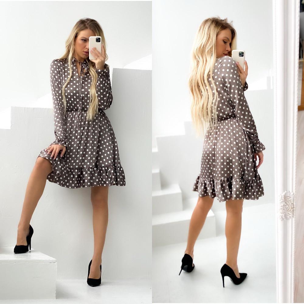 Женское платье, шёлк армани, р-р 42-44; 46-48 (шоколадный)