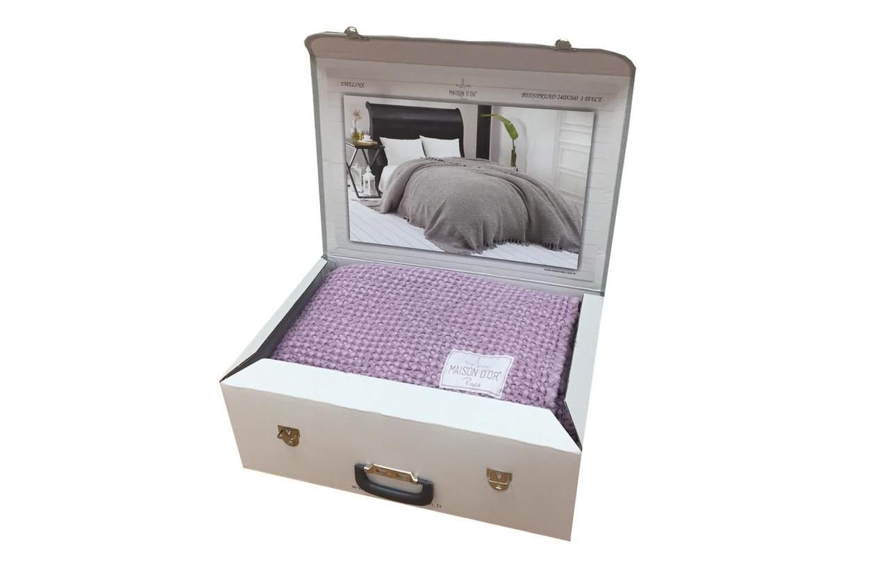 Покрывало плед вафельный Maison Dor 240х260 Фиолетовый