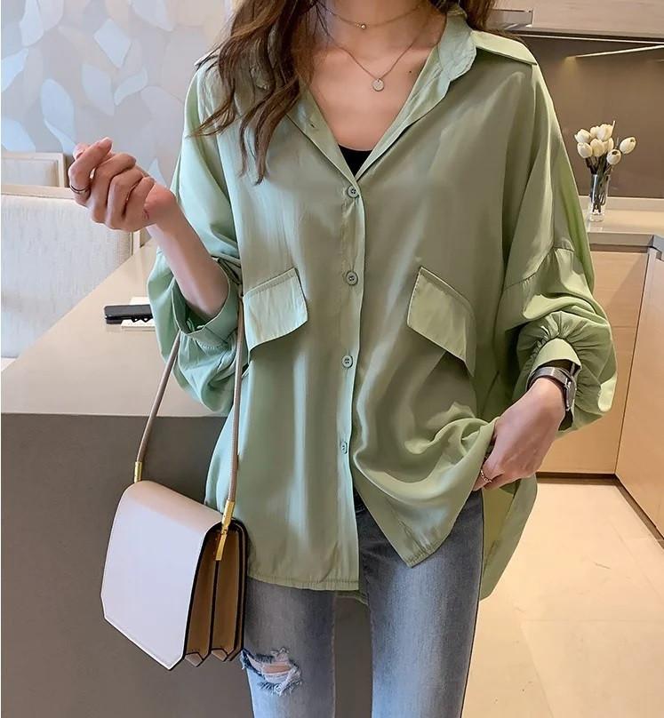 Женская нарядная модная блузка с широкими рукавами, размер