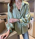 Женская нарядная модная блузка с широкими рукавами, размер, фото 2